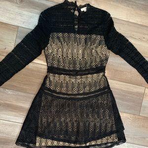 Super Cute Black Lace Dress